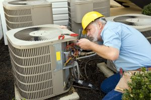 This is a picture of an ac installation.