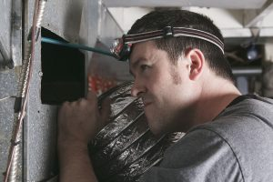 This is a picture of an hvac technician.